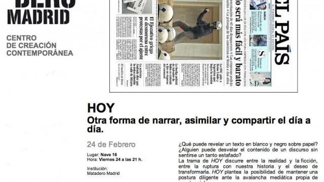 HOY, Matadero Madrid, 24.02.12
